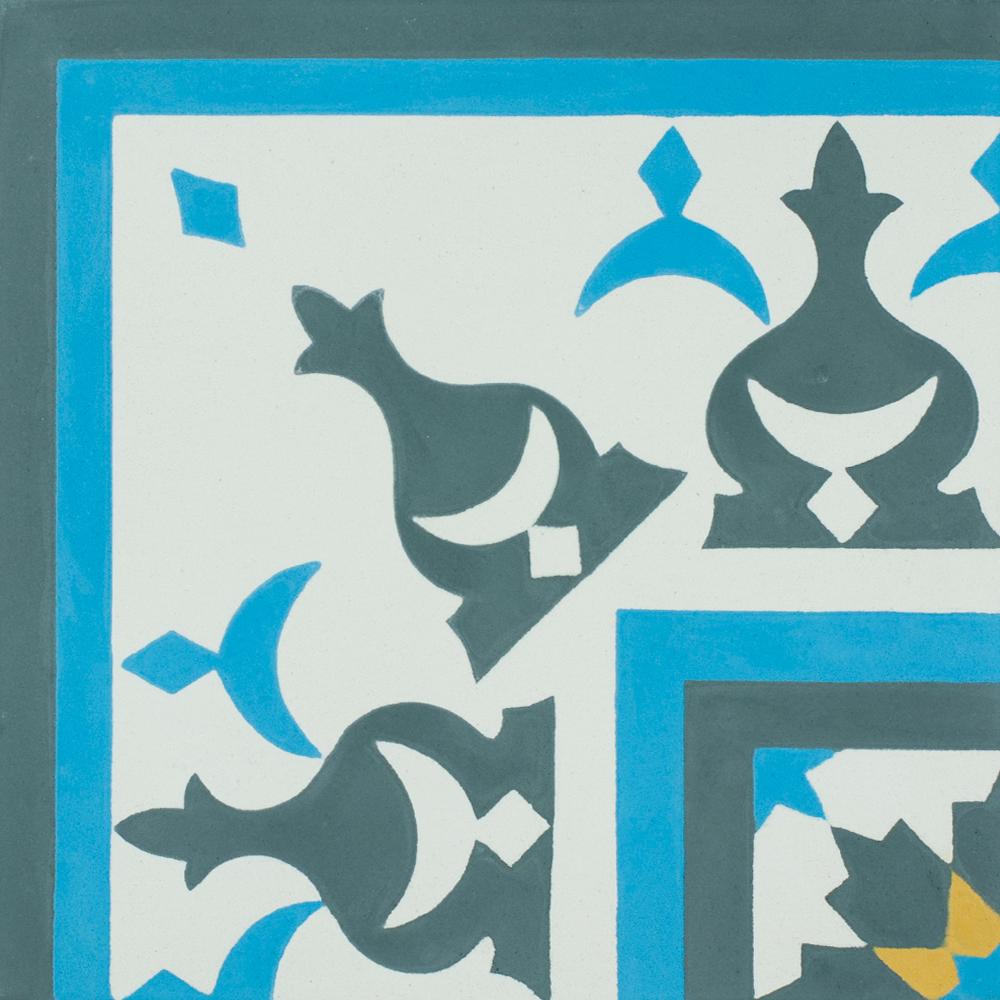 VN Azule 01 Maroc Corner - Płytki cementowe (enkaustyczne)