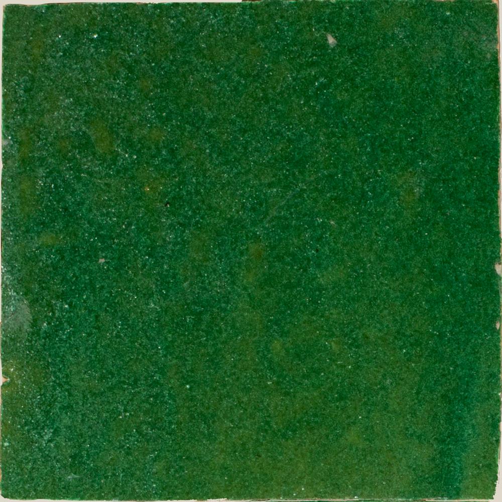 Zellige Vert Foncee 10x10cm - Zelliges