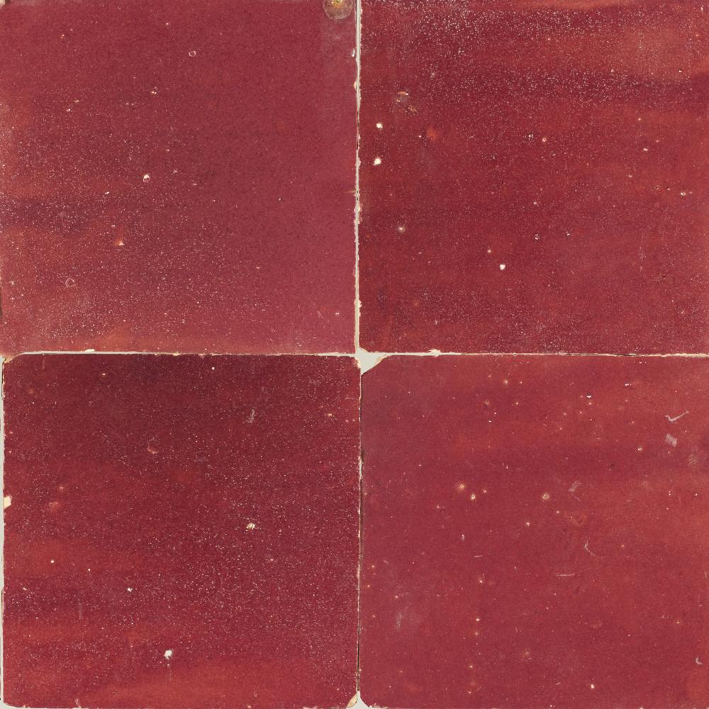 Zellige Rouge 5x5cm - Marokańskie płytki ścienne