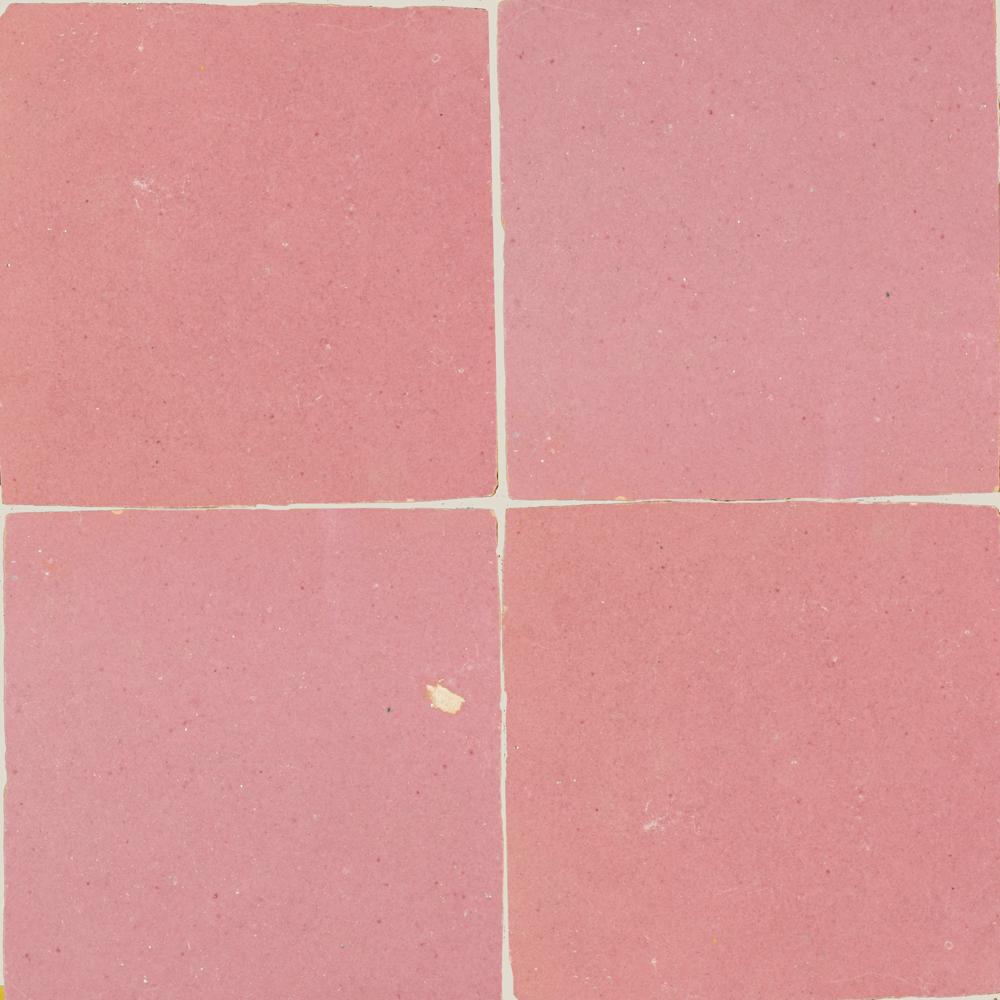 Zellige Rose Rouge 5x5cm - Marokańskie płytki ścienne