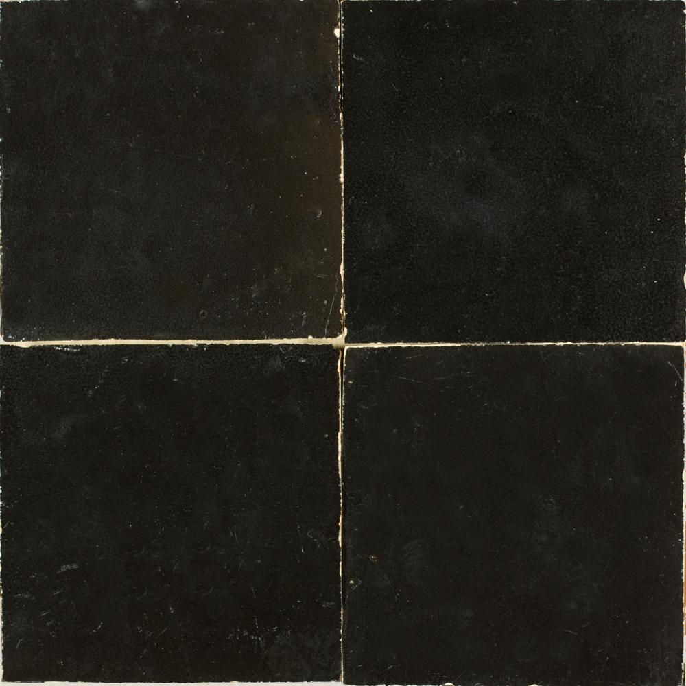 Zellige Noir 5x5cm - Marokańskie płytki ścienne