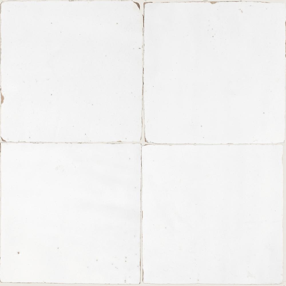 Zellige Neige Blanc 5x5cm - Zelliges