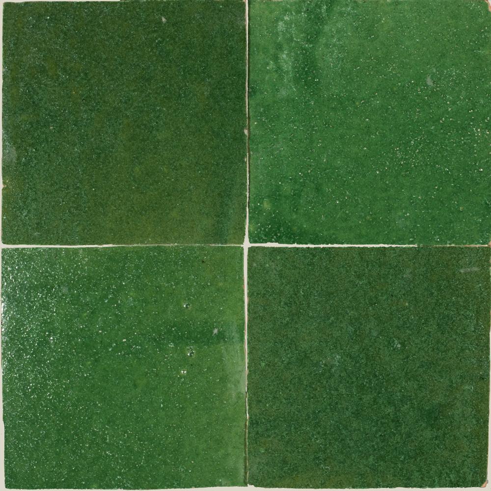 Zellige Vert Foncee 5x5cm - Zelliges