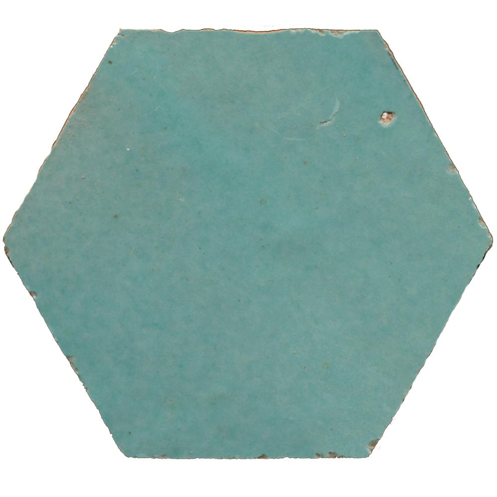 Zellige Turquoise Hexagone - Zelliges