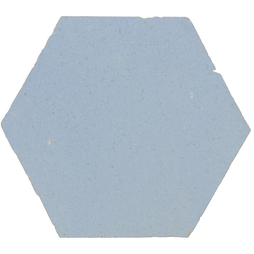 Zellige Pastel Bleu Hexagone - Zelliges