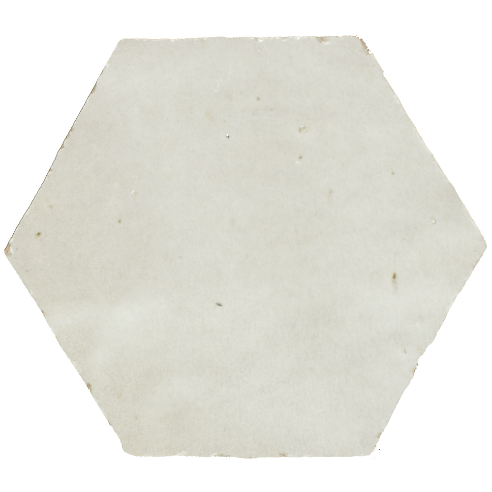 Zellige Blanc Hexagone - Marokańskie płytki ścienne
