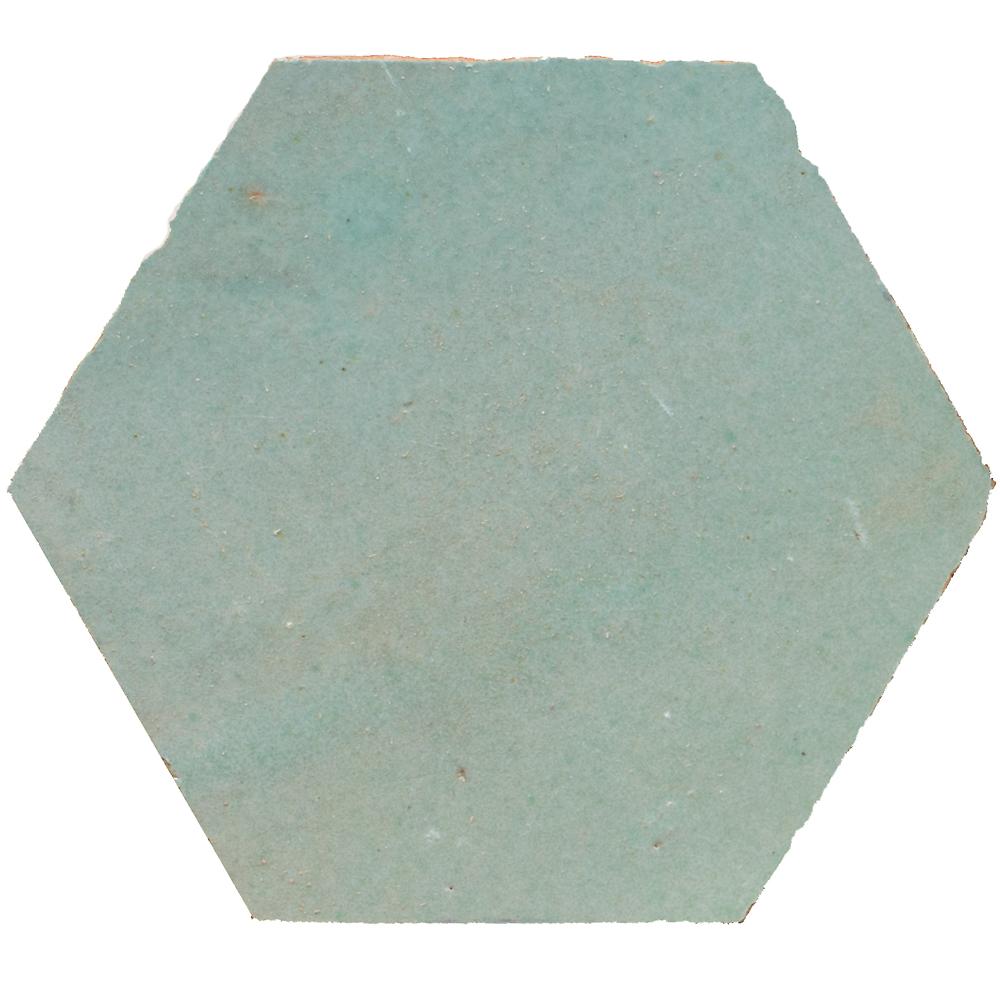 Zellige Vert Clair Hexagone - Zelliges