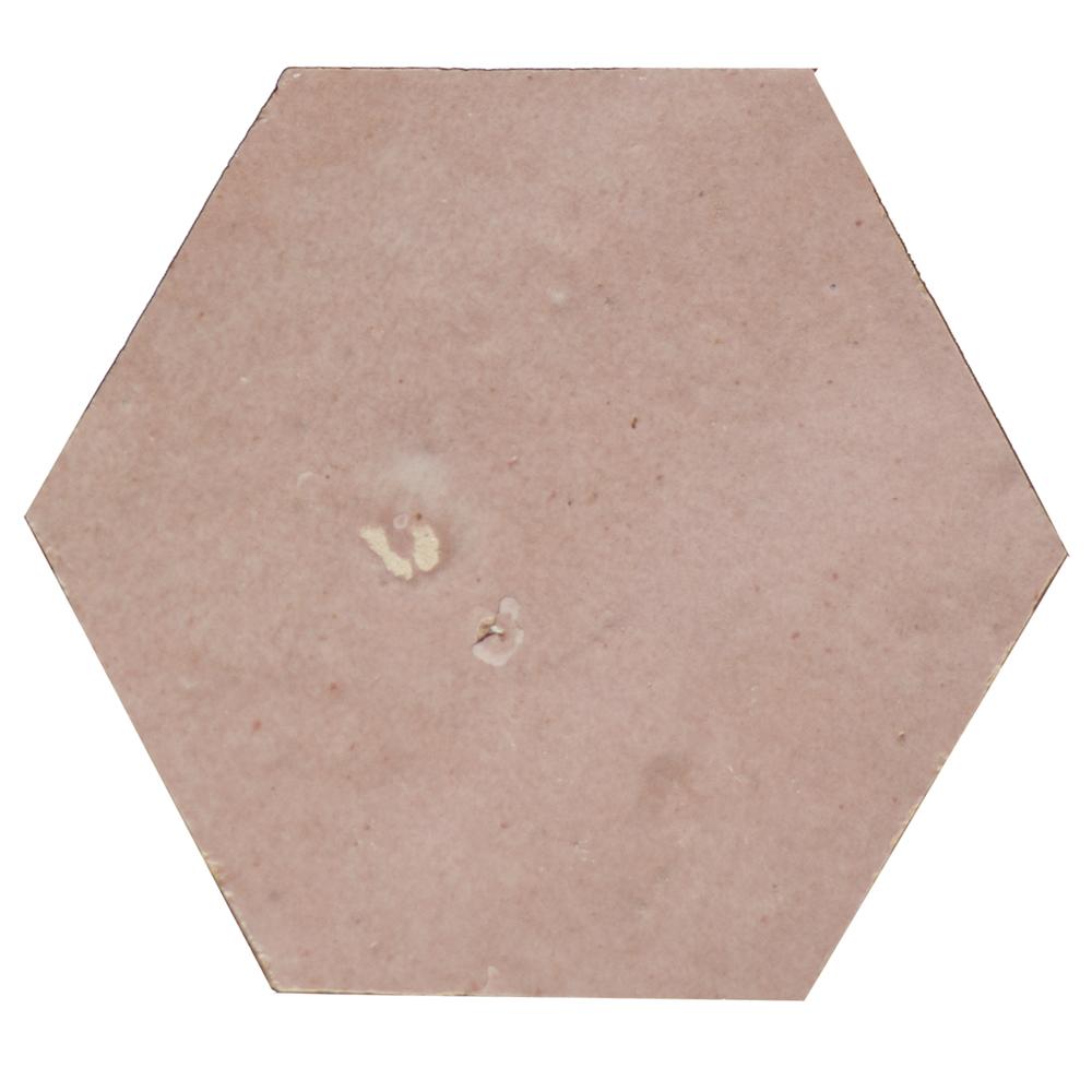 Zellige Gris Rose Hexagone - Zelliges