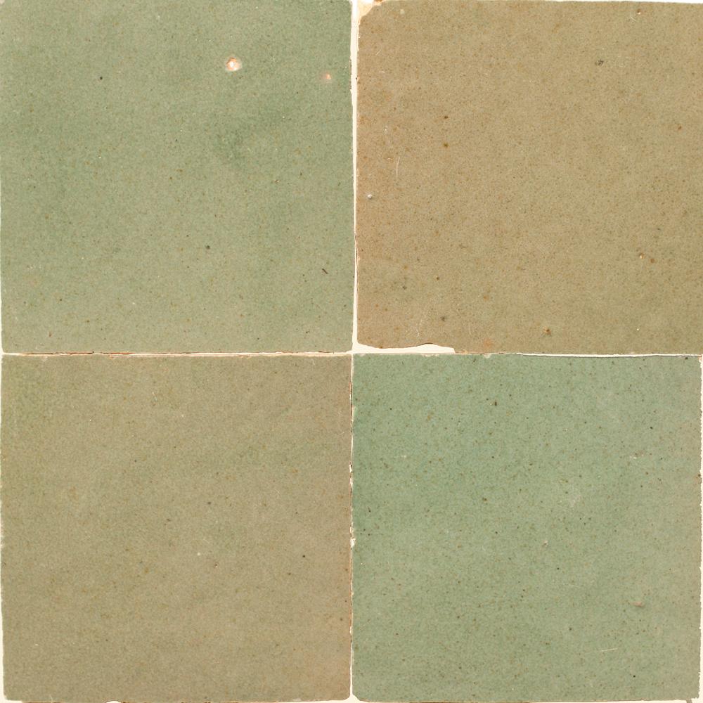 Zellige Vert Gris 5x5cm - Marokańskie płytki ścienne