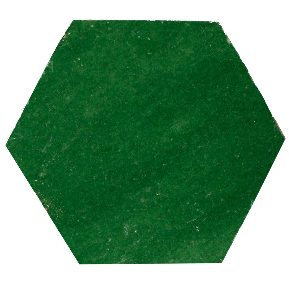 Zellige Vert Foncee Hexagone - Marokańskie płytki ścienne