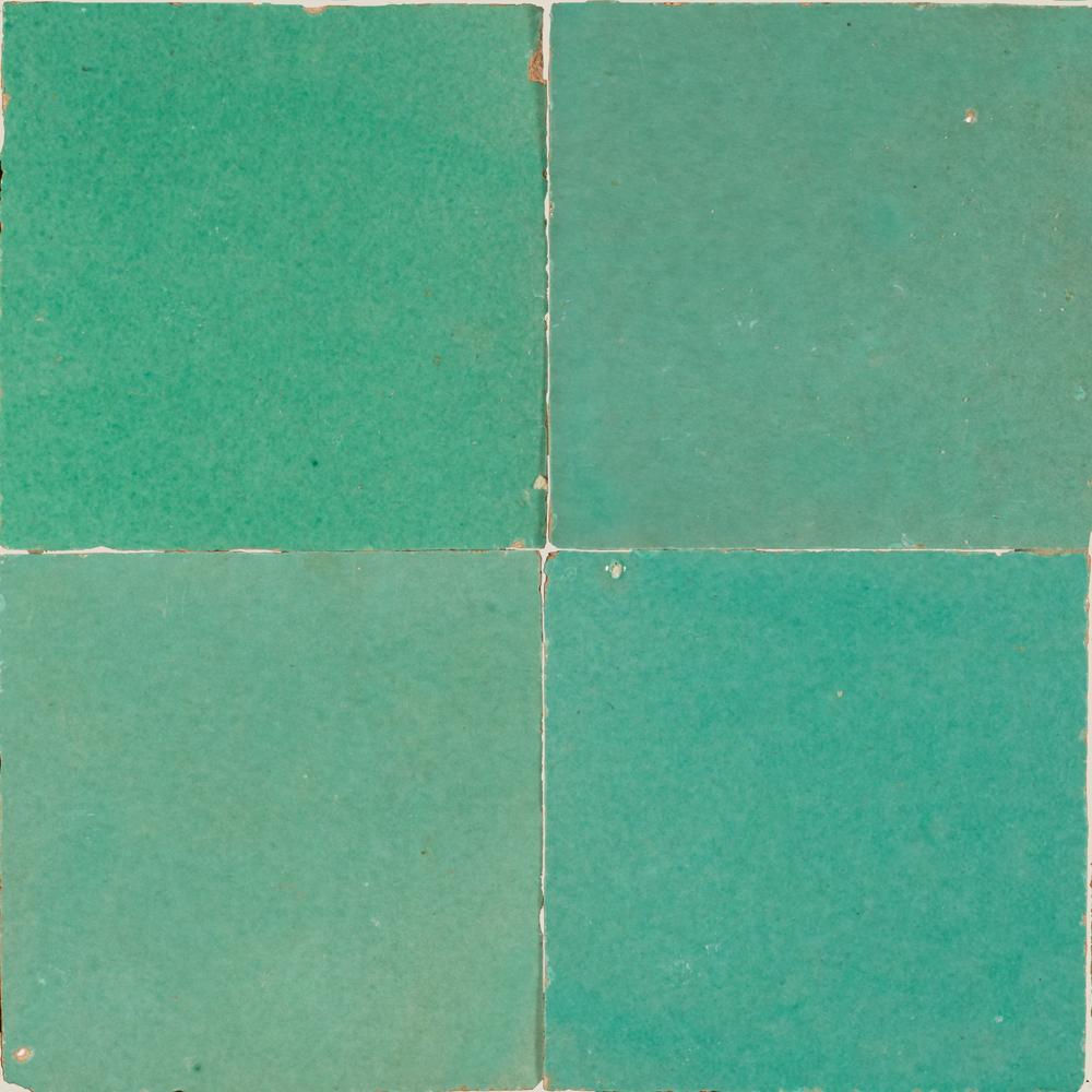 Zellige Vert Turquoise 5x5cm - Marokańskie płytki ścienne