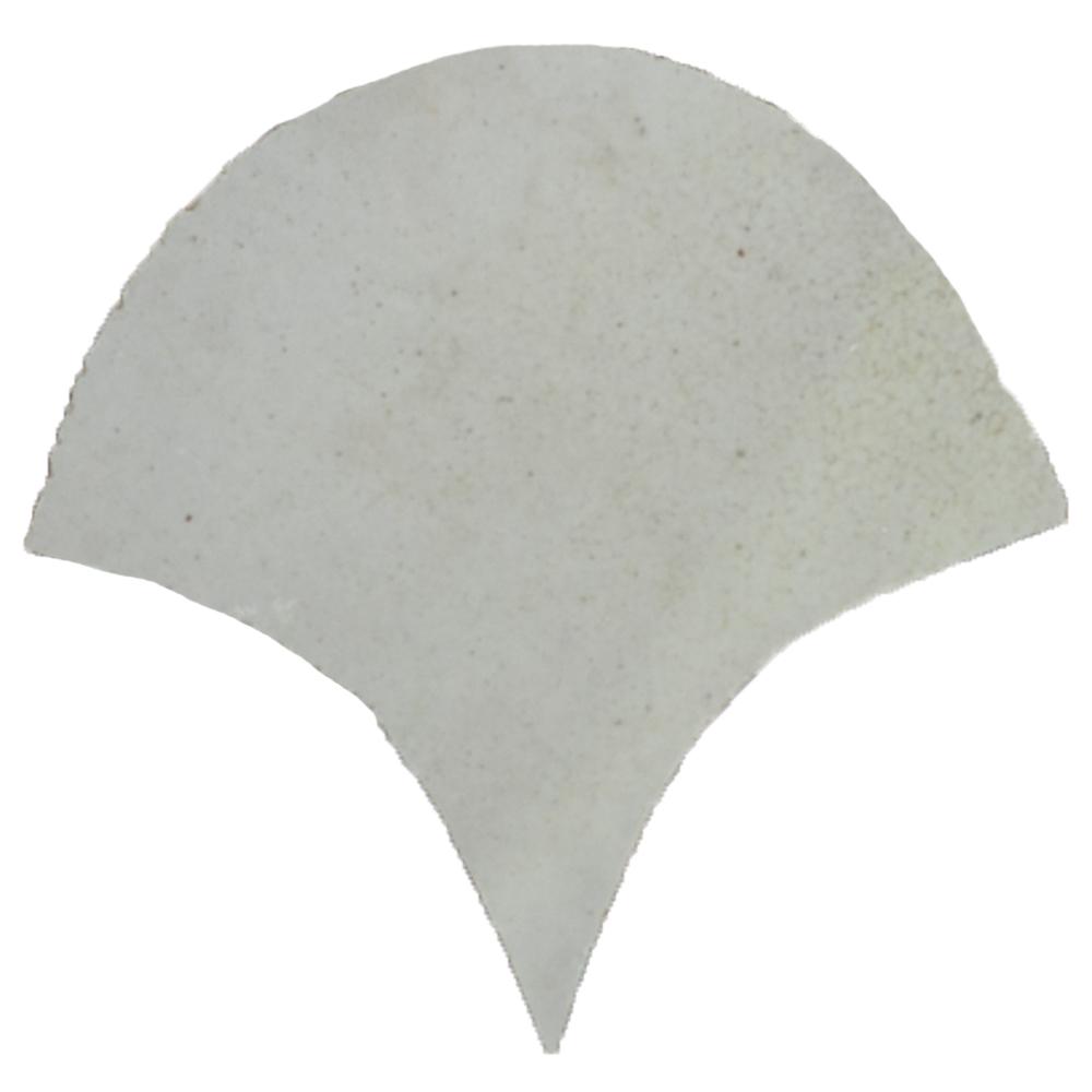 Zellige Ecru Poisson Échelles 10x10cm - Zelliges