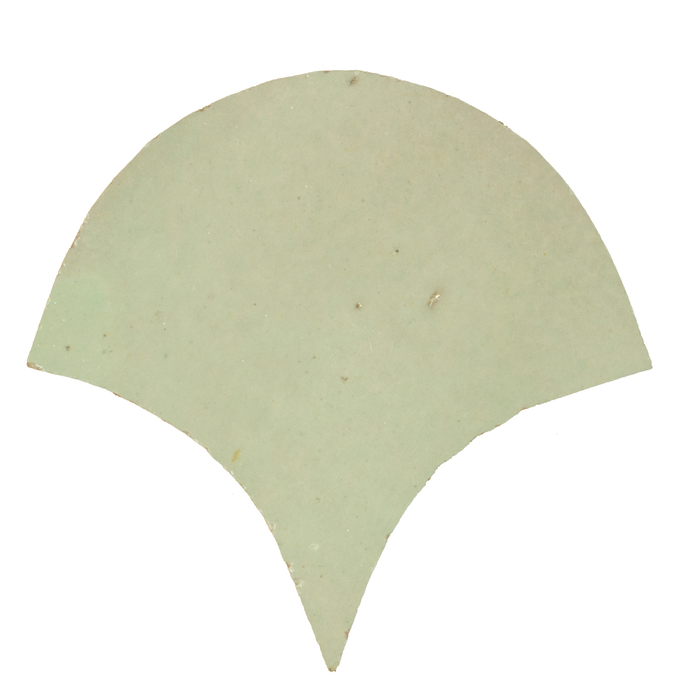 Zellige Vert Clair Poisson Échelles 10x10cm - Marokańskie płytki ścienne