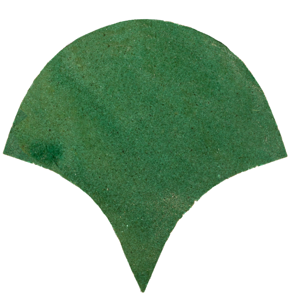Zellige Vert Foncee Poisson Échelles 10x10cm - Marokańskie płytki ścienne