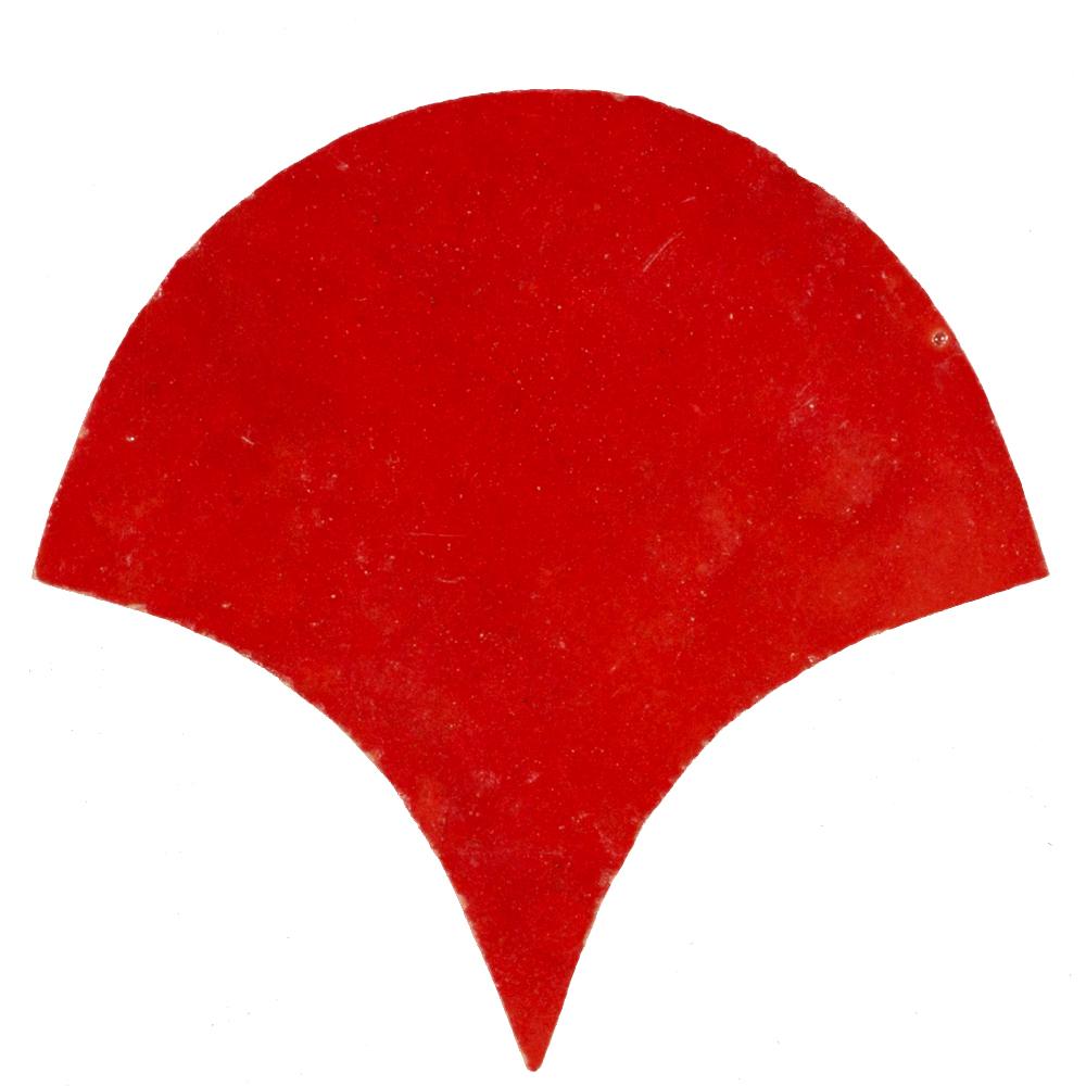 Zellige Rouge Sang Poisson Échelles 10x10cm - Zelliges