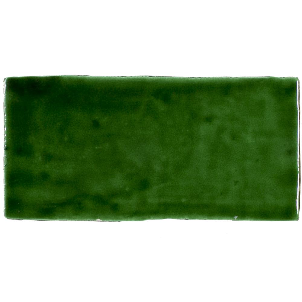 Azulejos AT Manual Verde Cobre 7.5x15 - Azulejlos