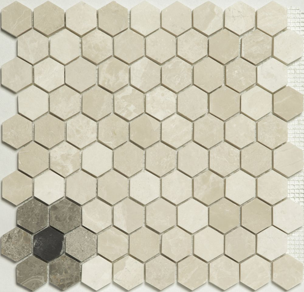 Mosaic Hexagon Flower Bottocino - Mozaika