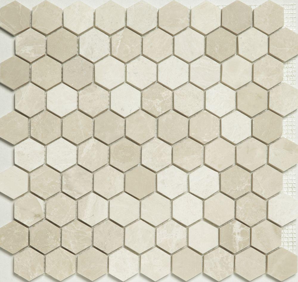Mosaic Hexagon Plain Bottocino - Mozaika