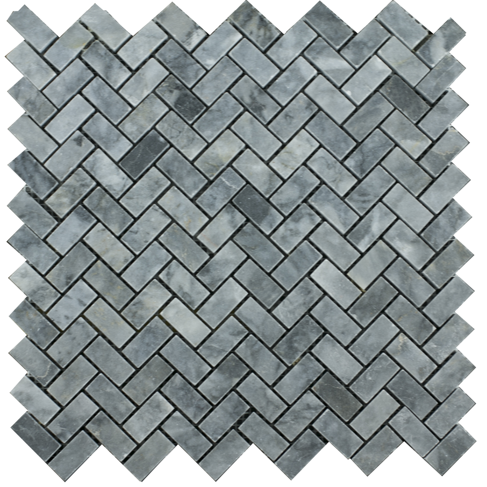 Mosaic Herringbone Blue Stone - Mozaika