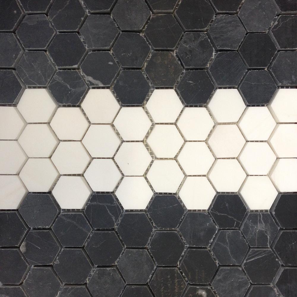 Mosaic Hexagon Border Toros Black - Mozaika