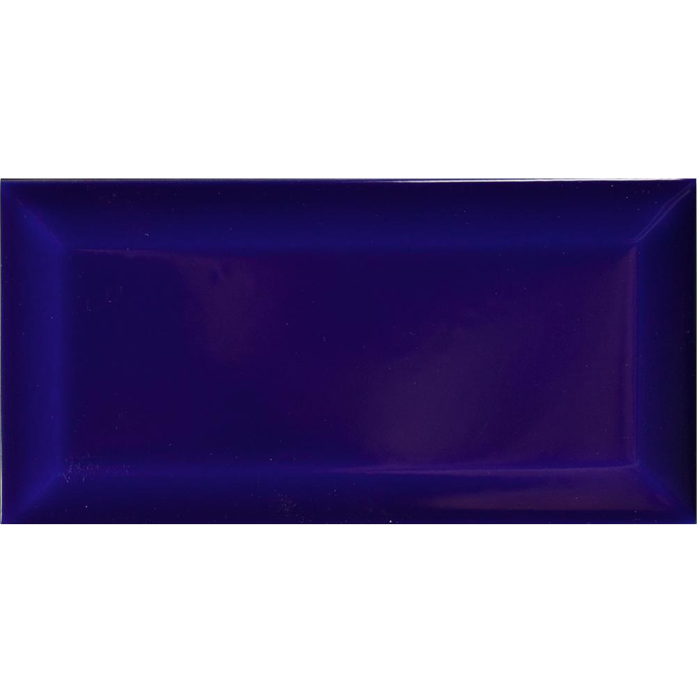 Metro AT Biselado Azul Cobalto Brillo 7.5x15 - Metro